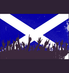 Scotland flag with audience vector
