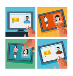 sending email to contacts vector image