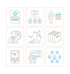 set of business or finance icons and concepts in vector image