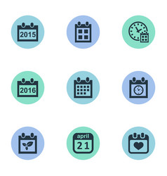 set simple date icons vector image