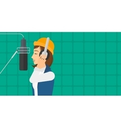 Singer making record vector