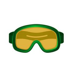 ski sport goggles in dark green design vector image