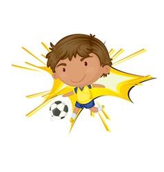 Soccer star vector