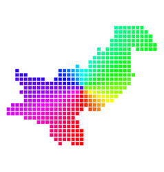 Spectral dot pakistan map vector