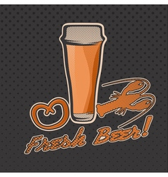 glass of beer retro vector image