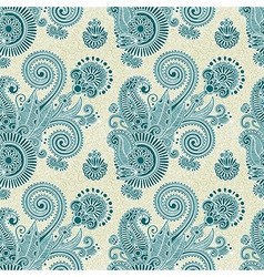 hand draw ornate vintage seamless pattern vector image