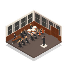 orchestra isometric vector image vector image