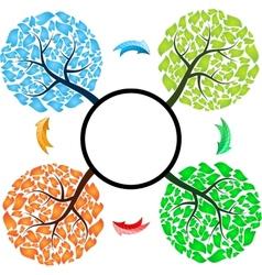 Seasons tree with arrows vector image