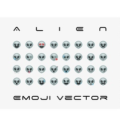 Set of alien icon vector image