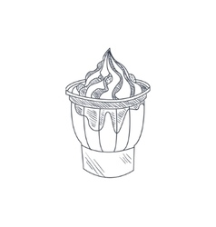 Sundae Hand Drawn Sketch vector image