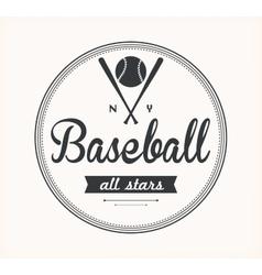 Baseball Label vector image vector image