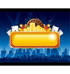 Casino background city vector image vector image