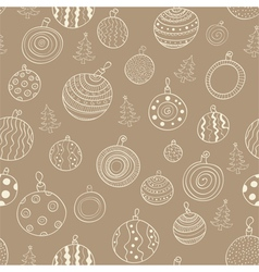 Christmas seamless pattern with balls vector image