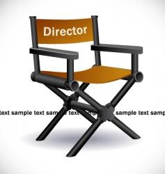 Directors chair vector