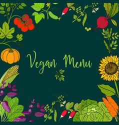 eco food menu vector image