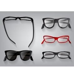 Glasses eye wear glasses vector image