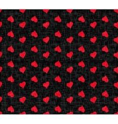 Holiday Hearts Seamless Pattern vector image vector image