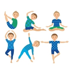 Kids Yoga Poses Child doing vector image vector image
