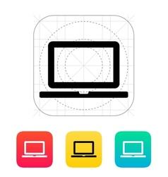 Laptop screen icon vector image vector image
