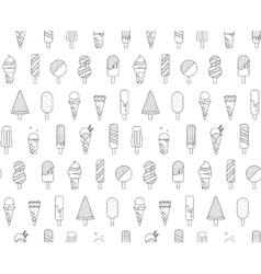 Pattern Memphis Ice Cream vector image