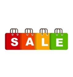 Sale Bag Concept of Discount vector image vector image