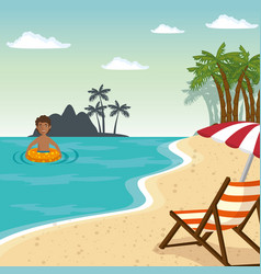 beach vacation design vector image
