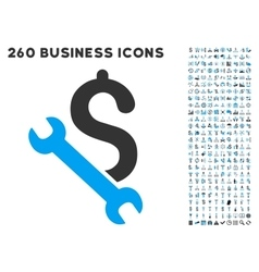 Repair Business Icon with Flat Set vector image vector image