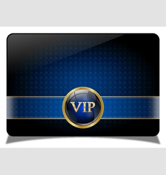 Blue vip card vector image vector image