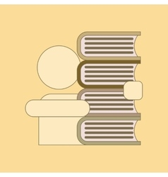flat icon with thin lines schoolboy book vector image
