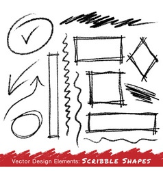 Scribble stains hand drawn in pencil logo design vector