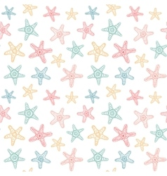 Seamless pattern with sea stars vector image