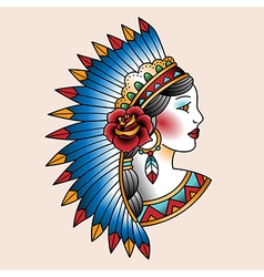 tattoo indian vector image vector image