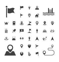 37 location icons vector