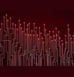 abstract background of glowing lines and dots vector image