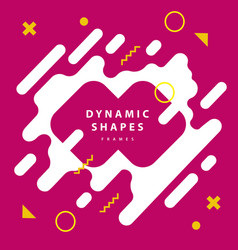 abstract flat dynamic frames background with vector image