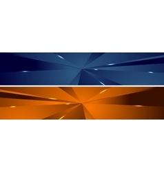 Abstract tech polygonal headers design vector image