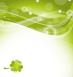 Abstract wavy background with clover for St vector image