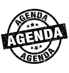 Agenda round grunge black stamp vector