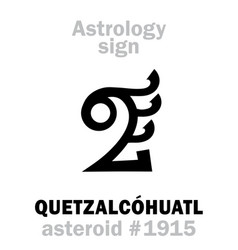 Astrology asteroid quetzalcohuatl vector