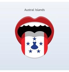 Austral Islands language Abstract human tongue vector image