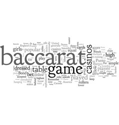 Baccarat the history vector