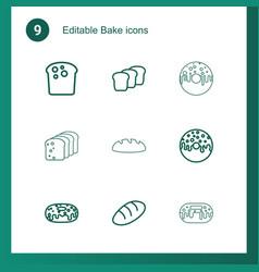 bake icons vector image