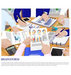 brainstorm process business conversation card vector image