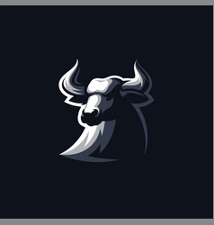 bull logo design ready to use vector image
