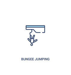 Bungee jumping concept 2 colored icon simple line vector
