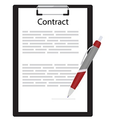 Business contract concept vector image