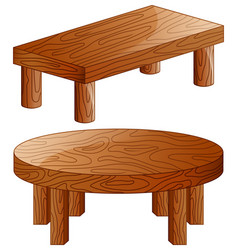 cartoon wooden tables isola vector image