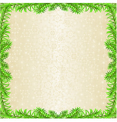 christmas and new year decoration frame spruce vector image
