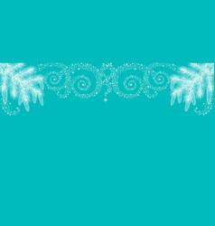 christmas border made of fir branches vector image