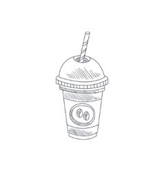 Coffee Cocktail Hand Drawn Sketch vector